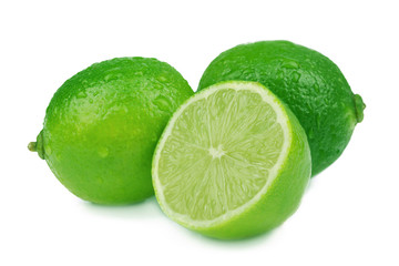 Ripe lime isolated