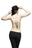 Body art temporary tattoo on female back poster