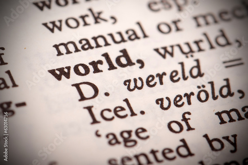 "The word ""World"" in a dictionary"