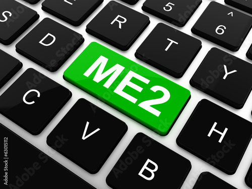 ME2 - Me Too. Internet Concept. Button