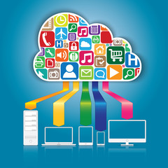 Cloud Computing and Applications concept.