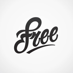 Free hand written lettering. Vector calligraphy