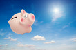 piggy bank in sky