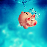 piggy bank underwater