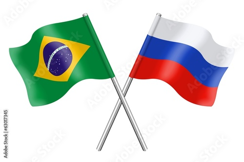 Flags: Brazil and Russia