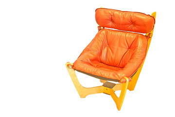 Orange leather chair