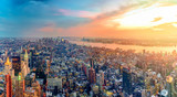 Fototapety Colorful Sunset in New York