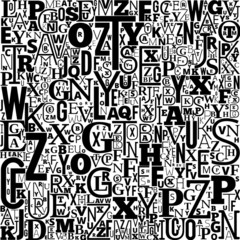 Vector Alphabet Background