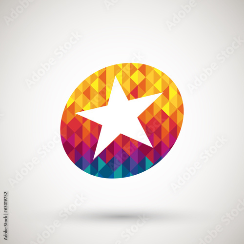 star icon with colorful diamond