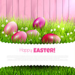 Pink Easter background with copyspace