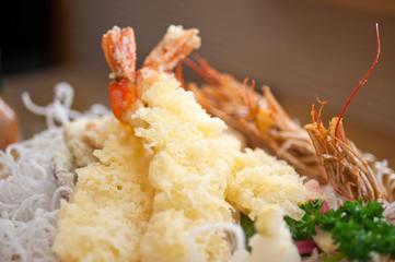 Japanese style tempura shrimps