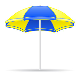 beach color umbrella vector illustration