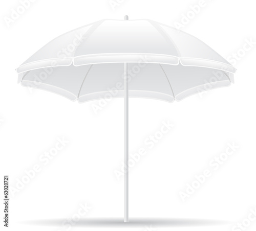 beach umbrella vector illustration