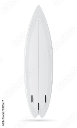 surfboard white blank vector illustration
