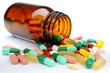 Pillen und Tabletten aus Medizin-Glas - 63021591