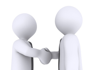 Businessmen close the deal