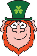 St Paddy's Day Leprechaun laughing funnily