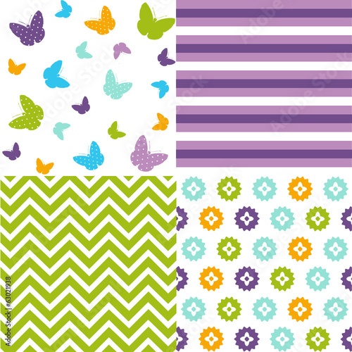 Seamless pattern easter set