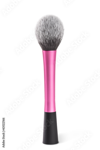 Make-up brush , isolated on white.