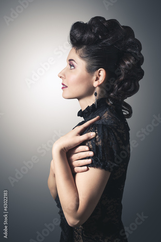 Fashion portrait of an attractive young woman.