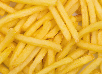 Potatoes fries background