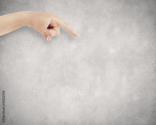Hand on wall background