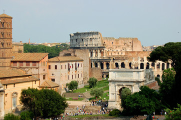Rome - Imperial Forum, Colosseum, Arch of Constantine