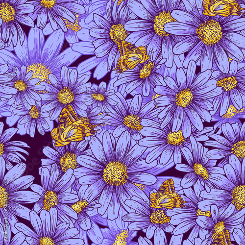 Summer seamless floral pattern