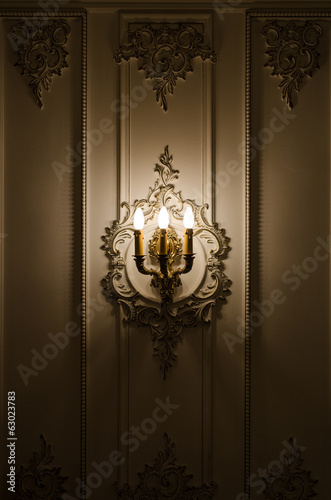 Wall light, vintage sconce closeup