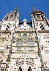 Cathedral in Regensburg, Germany, Europe