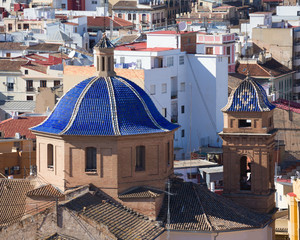 Valencia aerial skyline Compania de Jesus Jesuitas church