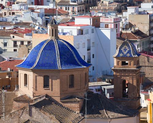 Valencia aerial skyline Compania de Jesus Jesuitas church - 63025569