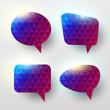 Set of colorful vector speech bubbles