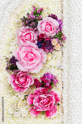 Artificial flower background