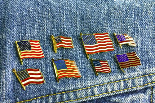 アメリカ国旗ピンバッジ