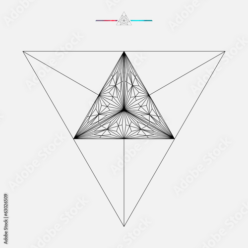 Triangle background, vector illustration