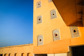 Detail of Hawa Mahal, the Palace of Winds, Jaipur.