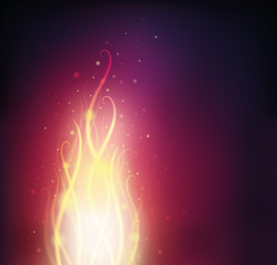 Background with fire and sparks.