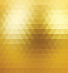 Vector  Seamless Pattern Gold Triangle