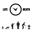 Human birth life death cycle