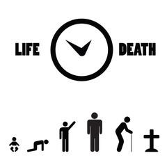 Human birth life death cycle