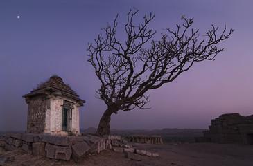 The Hanuman temple in Hampi