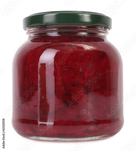 Beetroot preserve in jar