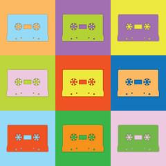 Farbige Kassetten