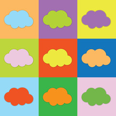 Farbige Wolken