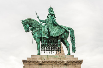 King Saint Stephen statue at Matthias Church, Budapest, Hungary