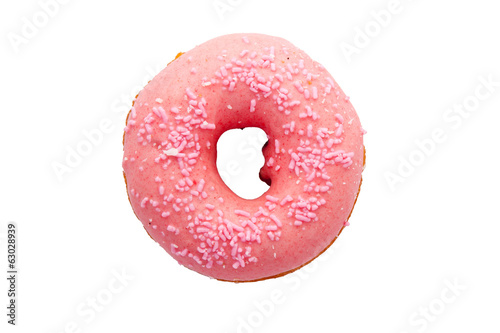 delicious donut on white background