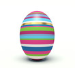 Vertical colorful Easter egg.