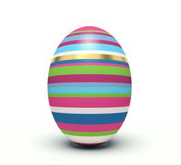 Vertical colorful Easter egg.