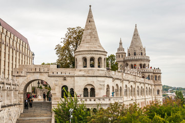 BUDAPEST, HUNGARY - SEP 30: Fisherman's bastion on September 30,